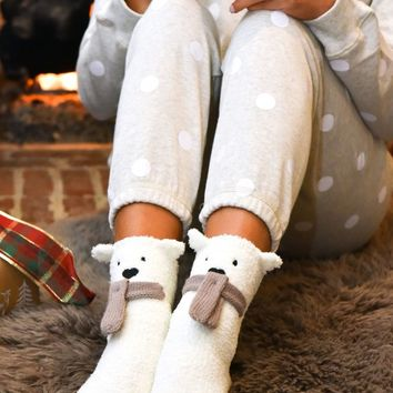 Beary Cozy Socks | Monday Dress Boutique
