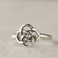 Celtic Knot Ring,  Sterling Silver Ring, Casual Jewelry