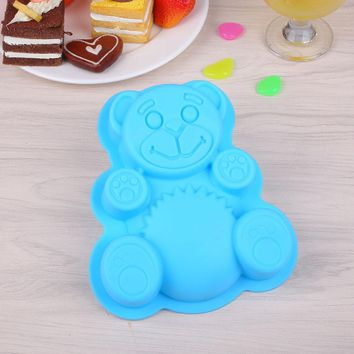 Creative Bear Shape Silicone Mold Baking Mold High Quality New Arrival Bear Silicone Cake Mold