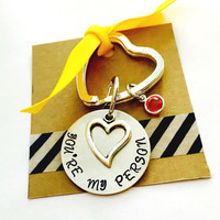You're My Person Key Chain Best Friend Gift, Hand Stamped My Person Key Chain