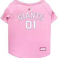 Pets First MLB San Francisco Giants Dog Jersey, Large, Pink