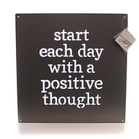 Home Decor Positive Thought Metal Sign Sign / Plaque