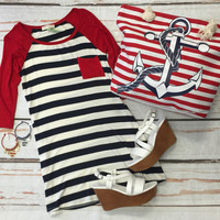 Sidelines Tunic: Red