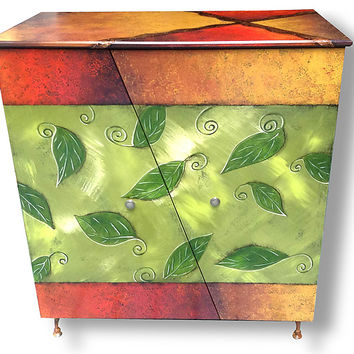 Lemonade Cabinet by Wendy Grossman (Wood Cabinet) | Artful Home