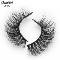 Genailish Mink Lashes Fake 3D Mink Eyelashes Natural Soft False Eyelashes Handmade Eye Lash Extension-A15