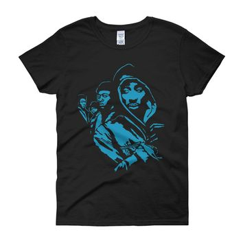 Juice Movie Tupac 2Pac Bishop Biggie Tribe Called Quest Rap Hip Hop Women'S T Shirt