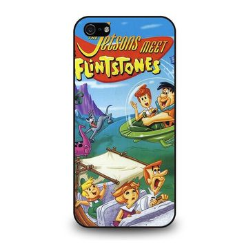 JETSONS MEET FLINTSTONES iPhone 5 / 5S / SE Case Cover