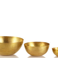 One Kings Lane - An Autumnal Setting - Set of 3 Nesting Brass Bowls