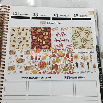 Hello Autumn Full Box Planner Stickers for Erin Condren