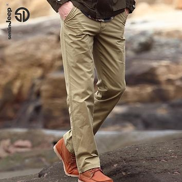 High Quality Cotton Pants Loose Baggy Men Cargo Pants Military Trousers Fashion Brand Casual Multi Pockets Big size 44