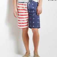Free State Americana Woven Jogger Shorts