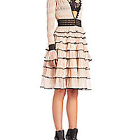 Alexander McQueen - Tiered Ruffle Dress - Saks Fifth Avenue Mobile