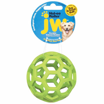 """Petmate JW Hol-Ee Roller Dog Toy Small Assorted 3"""" x 3"""" x 6"""""""