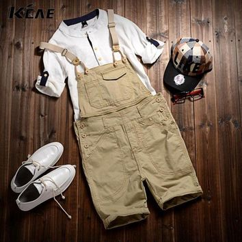 Free Shipping 2016 Men's cotton Overalls Mens Denim Bib Overalls  Shorts Jumpsuit Mens Jean Shorts Jeans Man