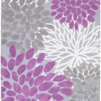 Abigail Floral Burst Rug in Orchid