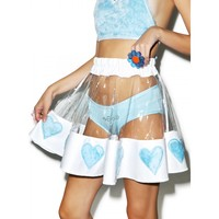 COURTNEY SKIES PVC HEART SKIRT