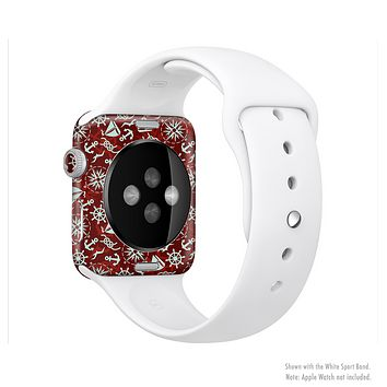 The Red Nautica Collage Full-Body Skin Kit for the Apple Watch