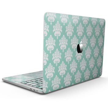 The Mint Green Decorative Pattern  - MacBook Pro with Touch Bar Skin Kit