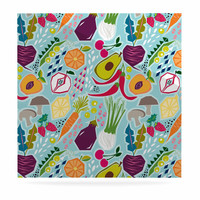 "Agnes Schugardt ""Garden Song"" Blue Food Luxe Square Panel"