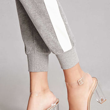 Clear Ankle-Wrap Heels
