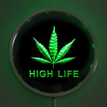 High Life - Round LED Neon Bar Sign - Color Specific or Multi-Color Wireless Control
