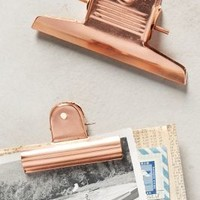 Copper-Plated Desk Clips by Anthropologie Copper Set Of 2 Furniture