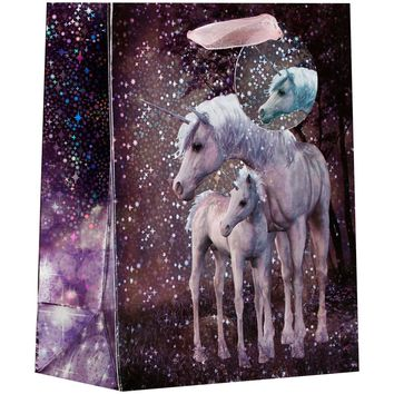 Jillson & Roberts Small Gift Bags, Unicorn (30 Pieces)