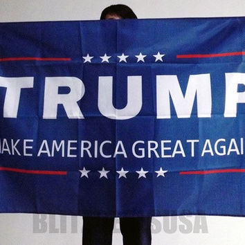 Donald J. Trump 3 X 5 Foot Flag Make America Great Again for President [8270358209]