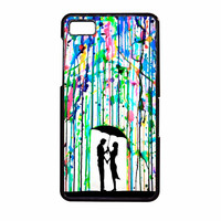 Love Song Romantic In The Rain Paint BlackBerry Z10 Case
