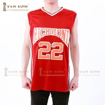 TIM VAN STEENBERGEB Timo Cruz 22 Richmond Oilers Home Basketball Jersey Double Stitched Jersey Color Red S-3XL For Free Shipping