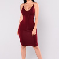 Leticia Dress - Burgundy