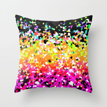 Mosaic Sparkley Texture G225 Throw Pillow by MedusArt | Society6