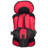 Portable Baby Safety Car Seat Kids Chairs In Car Babies Updated Version Thickening Children Infant Cotton Safe Car Seats RED
