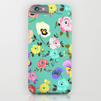 Roses and Pansies iPhone & iPod Case by Elisandra