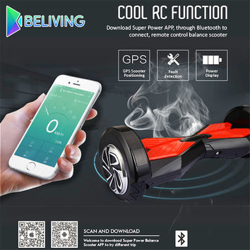 Passed UL2272 Two Wheel Hoverboard High Power Electric High-Speed Scooter Smart Balance Bluetooth Phone APP Hooverboard Beliving