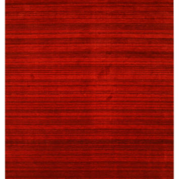 Red Transitional Stripe Rug