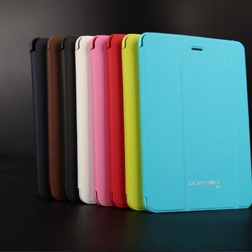 case for samsung galaxy tab A 8.0 8'' P350 tablet cover for samsung tab A 8.0 T350 T355+screen protector film+stylus