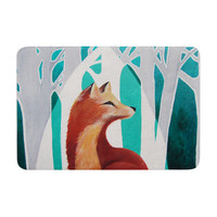 "Lydia Martin ""Fox Forest"" Memory Foam Bath Mat"