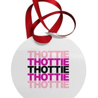 THOTTIE Circular Metal Ornament
