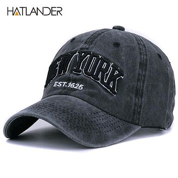 HATLANDER Sand washed 100% cotton baseball cap