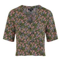 Ditsy Floral Cropped Shirt