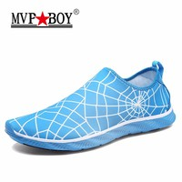 MVP BOY Brand Spiderman Style Men Casual Shoes Super Soft Breathable Slip-On Shoes Men Summer Shoes Comfort Hollow Out Shoes Men
