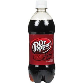 Diet Dr. Pepper 20 oz Bottles - Case of 24