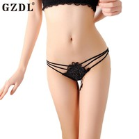 Lingerie Strappy Lace Floral G-string Panties