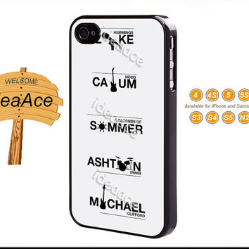 5 seconds of summer, iphone 4 case, Note 2 case, Galaxy S5 case, Note 3 case, Galaxy S4 case, iphone 5C case, iphone 5 case--N0060