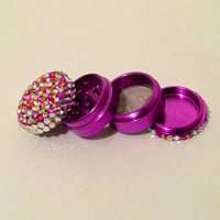 4pc small Raspberry herb grinder
