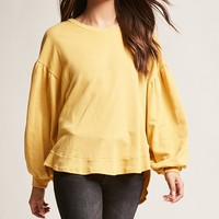Oversized Step-Hem Top