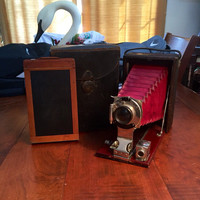 "BEAUTIFUL Eastman Kodak ""Premo"" Folding Bellows Camera -- WORKS!"