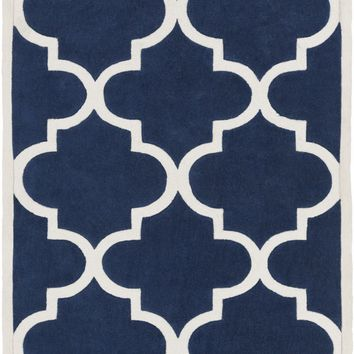 Mamba Geometric Area Rug Blue