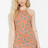 Pineapple Print Halter Dress | Forever 21 - 2000150299